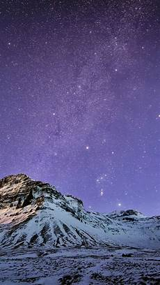 snow mountain stars skyscape iphone 6 wallpaper wallpaper wiki
