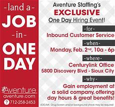 exclusive one day hiring event aventure staffing