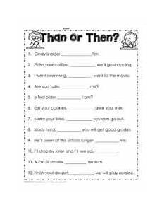 then than worksheets
