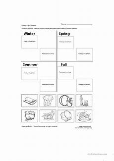 seasons worksheets cut and paste 14760 cut and paste seasons worksheet free esl printable worksheets made by teachers
