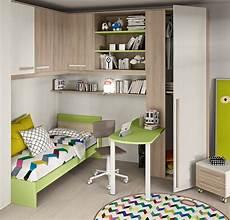 libreria a ponte cameretta angolare con un letto colorata camerette a