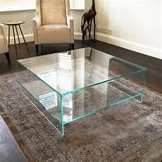 judd square glass coffee table with shelf klarity