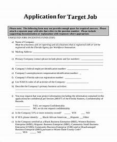 free 9 sle target application forms in pdf doc