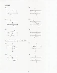 11 best images of lines and transversal angles worksheet