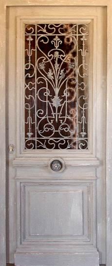 Portes Anciennes En Bois Porte Avec Ouvrant Vitr 233 Grille En Font Partie Vitr 233 E