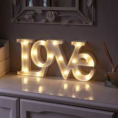 warm white led battery quot love quot marquee light up circus letter sign with timer in home furniture