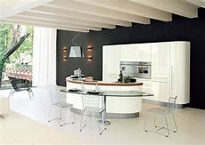 curved kitchen island from record cucine digsdigs