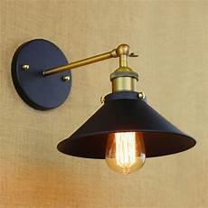industrial europe style mini vintage loft adjustable antique black metal wall light l sconce