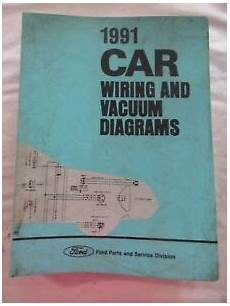 car repair manuals download 1991 ford thunderbird on board diagnostic system 1991 ford car mustang thunderbird crown victoria vacuum wiring diagrams manual ebay