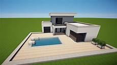 minecraft modernes haus mit pool bauen tutorial haus 103
