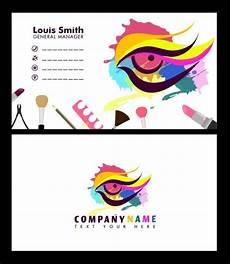 colorful name card template name card template colorful makeup eye ornament