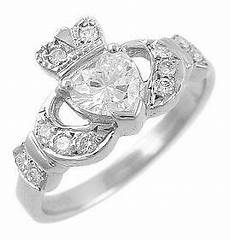 claddagh engagement ring 14k white gold diamond jewels claddagh engagement ring gold