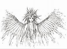 Ausmalbild: Gefallener Engel   Ausmalbilder kostenlos zum
