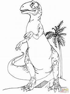 allosaurus jurassic dinosaur coloring dinosaur
