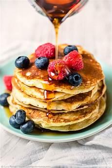 Fluffy Coconut And Quark American Pancakes Supergolden Bakes