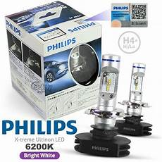 Genuine Pair Philips H4 6200k X Treme Ultinon Led High Low