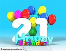 21 Geburtstag Bild Happy Birthday Mit Ballons