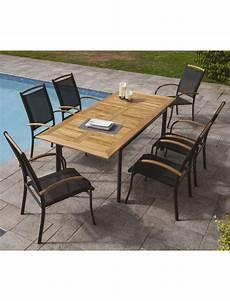 Mobilier De Jardin Ozalide Table Extensible Et 6