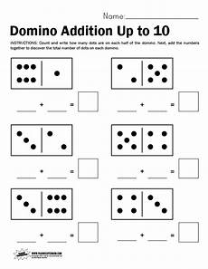 domino subtraction worksheets for kindergarten 10504 domino worksheet adding up to 10 paging supermom