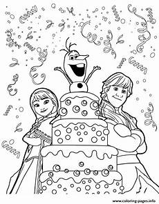 print kristoff olaf birthday colouring page