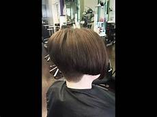 hair makeover long to bob haircut with a buzzed nape youtube