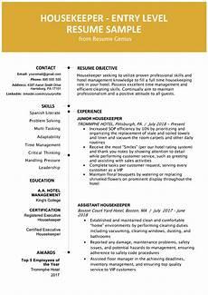housekeeping resume template mt home arts