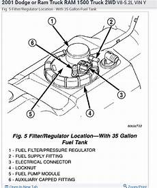98 dodge ram up fuel filter location fuel filter where is the fuel filter for the 2001 1500 series