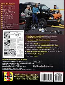 online auto repair manual 1998 chevrolet s10 security system chevy s10 sonoma blazer jimmy bravada repair manual 1994 2004