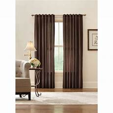 Brown Curtains by Home Decorators Collection Sheer Brown Faux Silk Lined