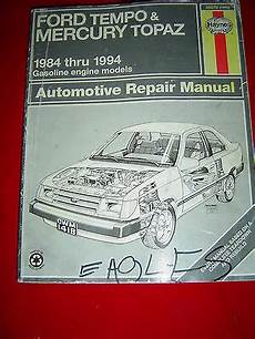 what is the best auto repair manual 1984 mitsubishi space electronic valve timing ford tempo mercury topaz 1984 1994 gasoline engine models auto repair manual ebay
