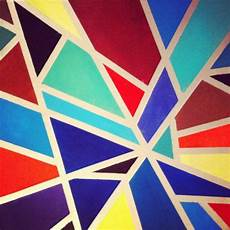 Easy Abstract Geometric Shapes 40 aesthetic geometric abstract paintings bored