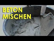 Beton Gießen Mischung - beton giessen wie mische ich meinen beton beton sorten