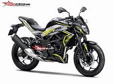 Z250sl Modif by Modifikasi Striping Kawasaki Z250sl Black Yellow
