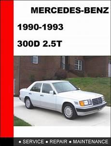 old car manuals online 1993 mercedes benz 300d mercedes benz 300d 2 5t 1990 1993 service repair manual download