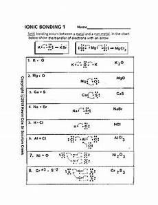 ionic bonding 1 worksheet by scorton creek publishing kevin cox