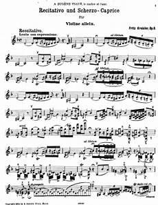 recitativo un scherzo caprice fritz kreisler free violin sheet music
