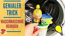 genialer trick waschmaschine reinigen mit hausmitteln