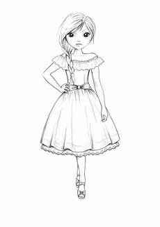 Topmodel Ausmalbilder Mit Kleidung Vogue Coloring Book Country Style Dress Outline By