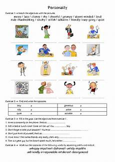 describing s personality worksheets 15903 personality adjectives