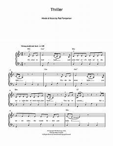 thriller sheet music by michael jackson beginner piano