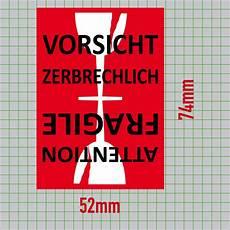 Aufkleber 7 4cm Sticker Vorsicht Glas Zerbrechlich