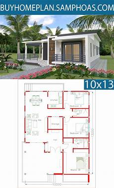 sketchup house plans sketchup home design plan 10x13m with 3 bedrooms