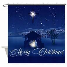 merry christmas nativity shower curtain by admin cp59133934