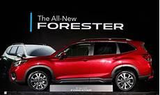 2019 subaru forester debut 2019 subaru forester gets bigger in new york debut