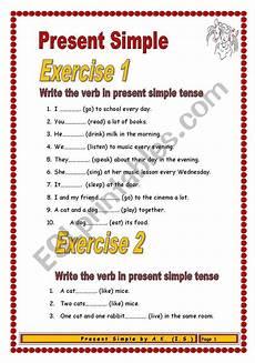 easy worksheets for beginners 19174 3 pages 4 exercises 42 sentences present simple for beginners esl worksheet by allakoalla