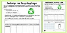 redesign the recycling logo worksheet activity sheet