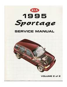 automotive service manuals 1995 kia sportage head up display 1995 kia sportage factory service manual 2 volume set