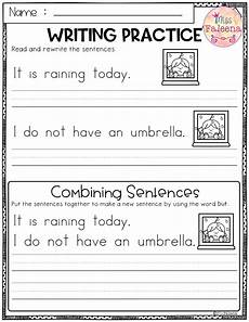 sentence patterns worksheets for grade 3 412 april writing practice combining sentences writing practice kindergarten lesson plans