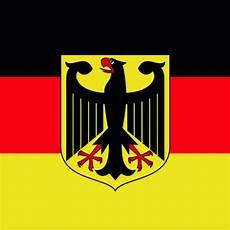 black eagle shield on german flag background