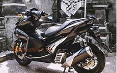 Modifikasi Aerox 2019 by Aerox 155 Modif Hitam Knalpot Racing Modifikasimotorz